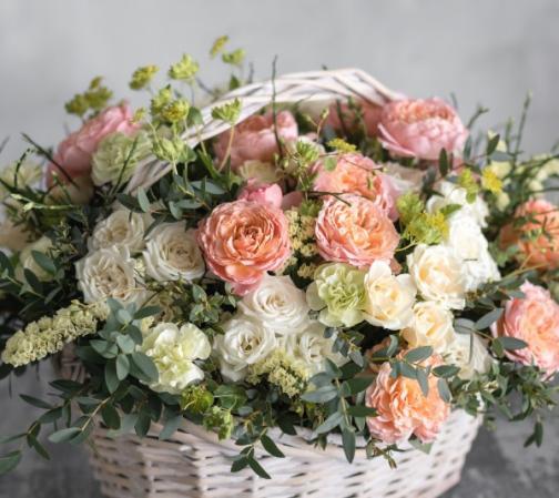 Panier trio de roses