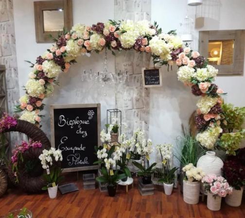 ARCHE XXL en fleurs naturelles  d'Escapade Florale à Roncq. C'est à la carte!!!